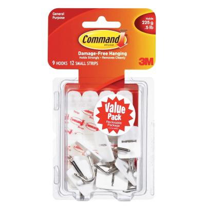 3M Command Hooks Pack of 9 17067-9